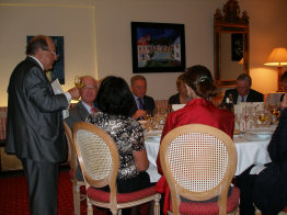 Paul Bouchard explaining some finer points at Atlantic Dinner 2007