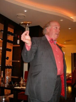 The evening's speaker was Robin Butler, an expert on antique wine accessories