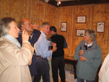 Some people couldn't get enough of the £51 Corton-Charlemagne at the Launch Weekend Wine Tasting in October 2006